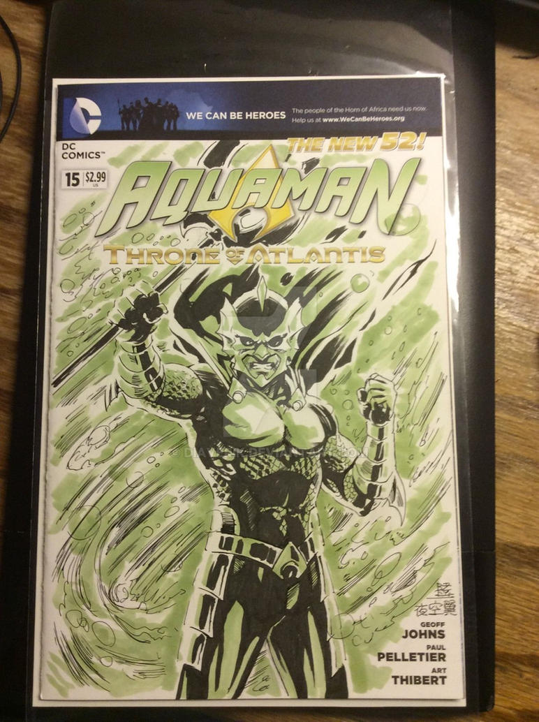 AQUAMAN #15 - Sketch Cover on EBAY! by diaverik
