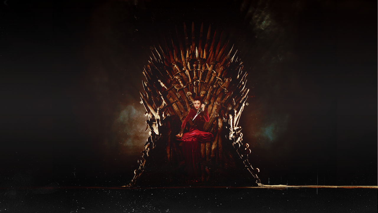 Evil queen on the iron throne by rcf on deviantart for Iron throne painting