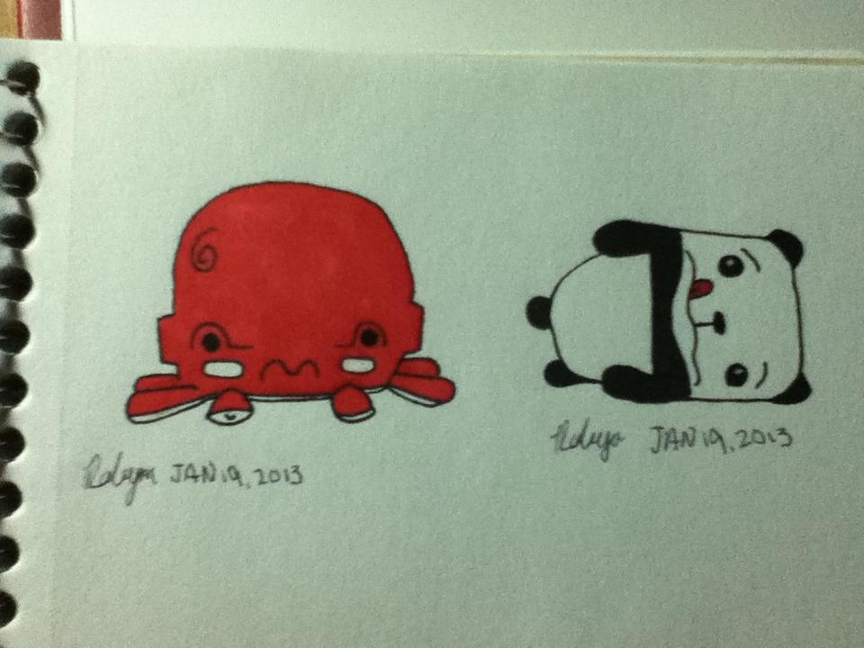 awkward octopus and panda by wackyapollowitch on deviantart