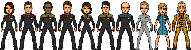 Crew of the USS Voyager by Shepard137