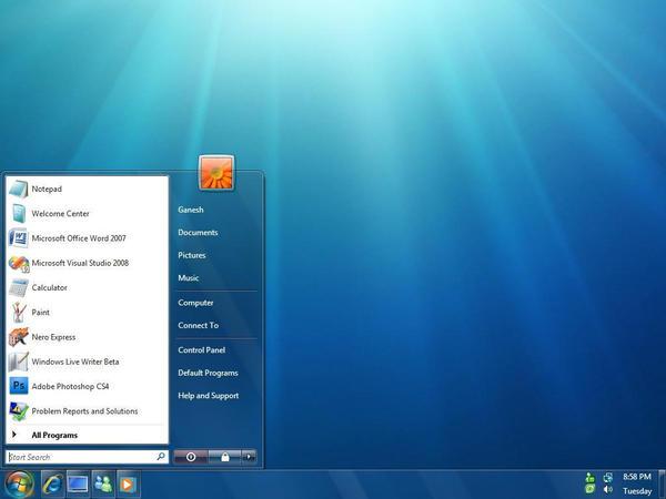 Windows 7 theme for Vista