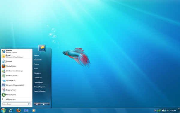 Windows 7 themes in vista for Door to windows