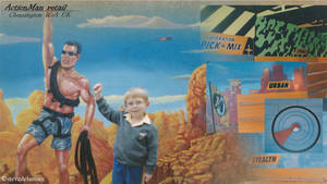 Action Man retail mural by SteveDeLaMare