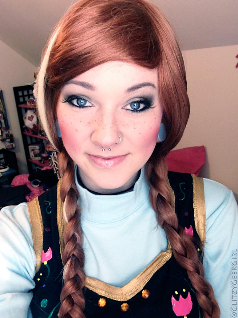 Princess anna makeup and hair by glitzygeekgirl on deviantart princess anna makeup and hair by glitzygeekgirl baditri Image collections