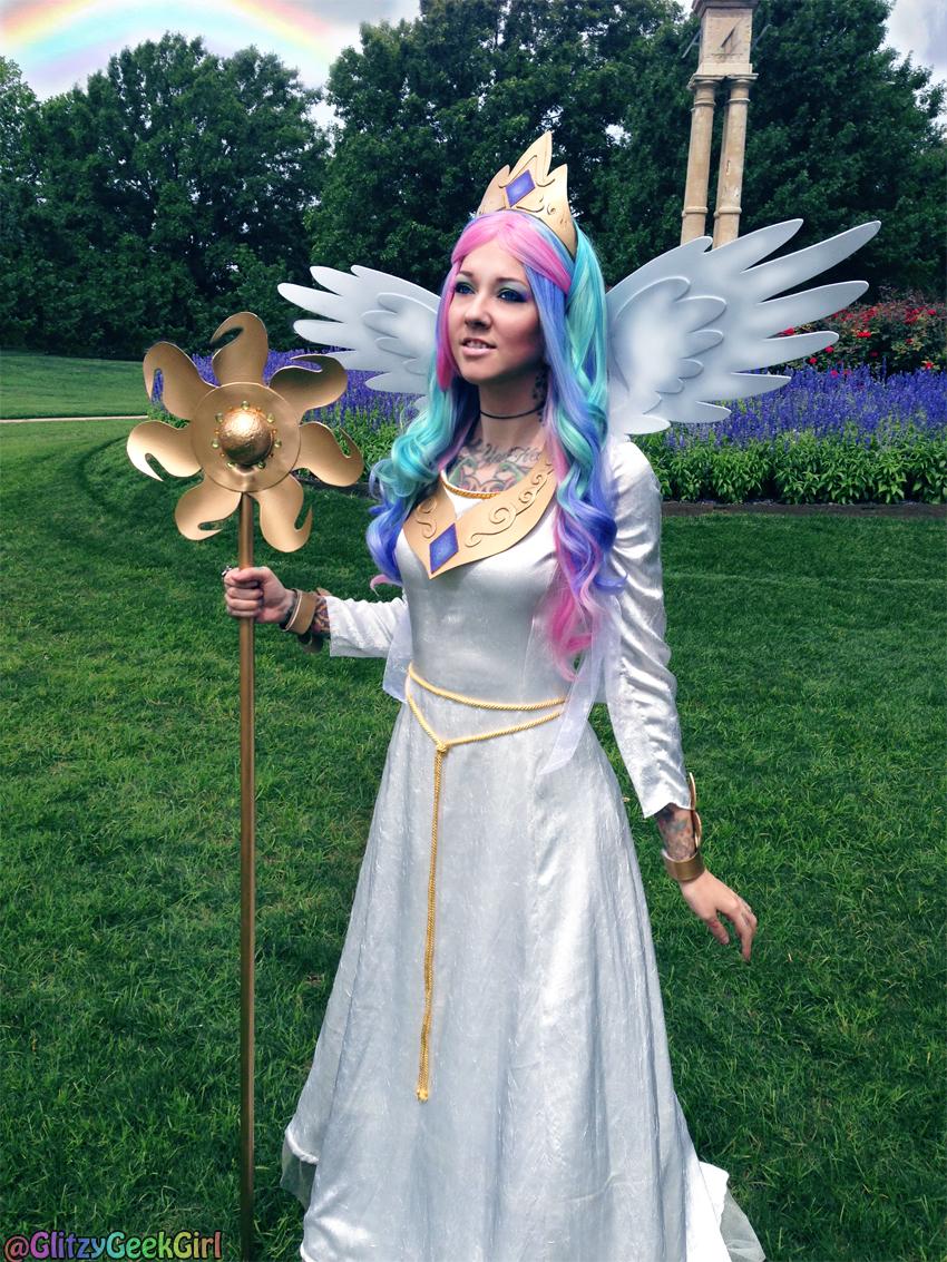 Princess Celestia Cosplay by glitzygeekgirl on DeviantArt