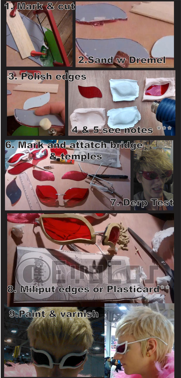 Cosplay Glasses Tutorial by WiredintoSpace