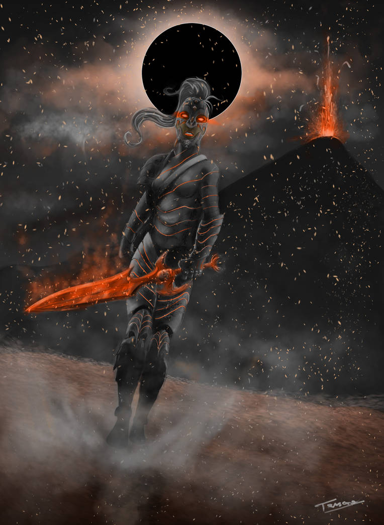 Volcano Warrior Colored and edited