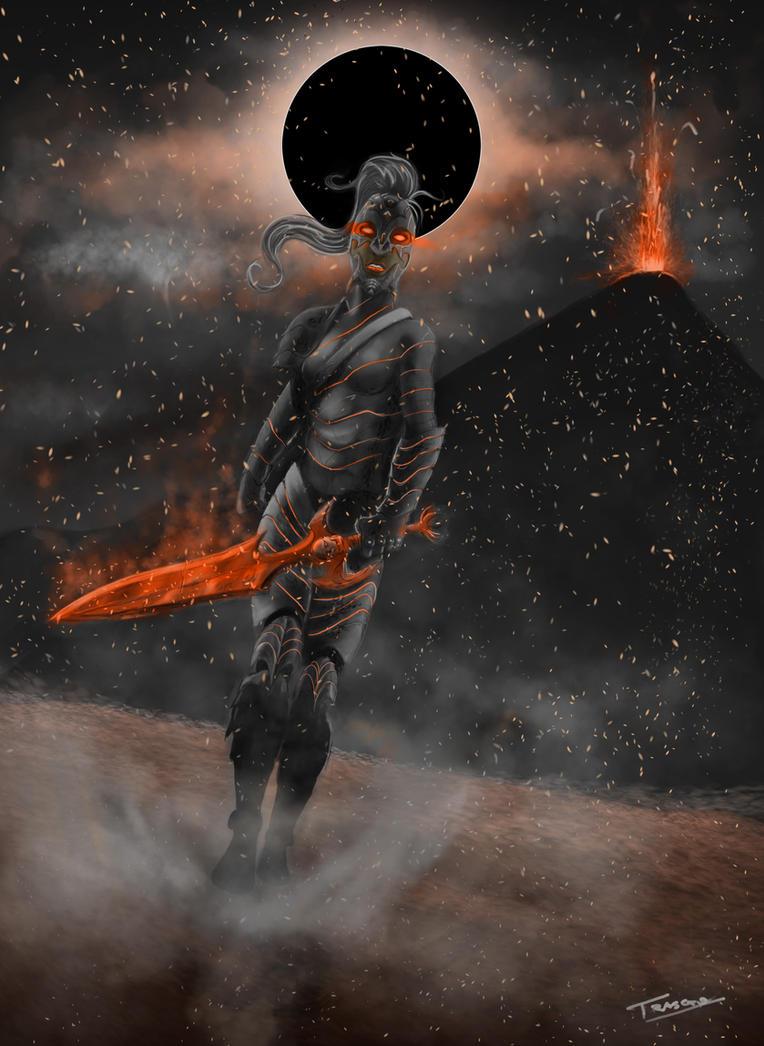 Volcano Warrior Colored and edited by oshikuma