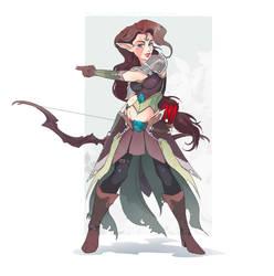 DnD Ranger Wood Elf Sketch by Wilvarin-Liadon