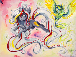 Watercolor A3 Canvas Commission: Velvet Remedy by Wilvarin-Liadon