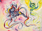 Watercolor A3 Canvas Commission: Velvet Remedy
