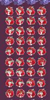 54 Emoyi pack: Rose Diamond by Wilvarin-Liadon