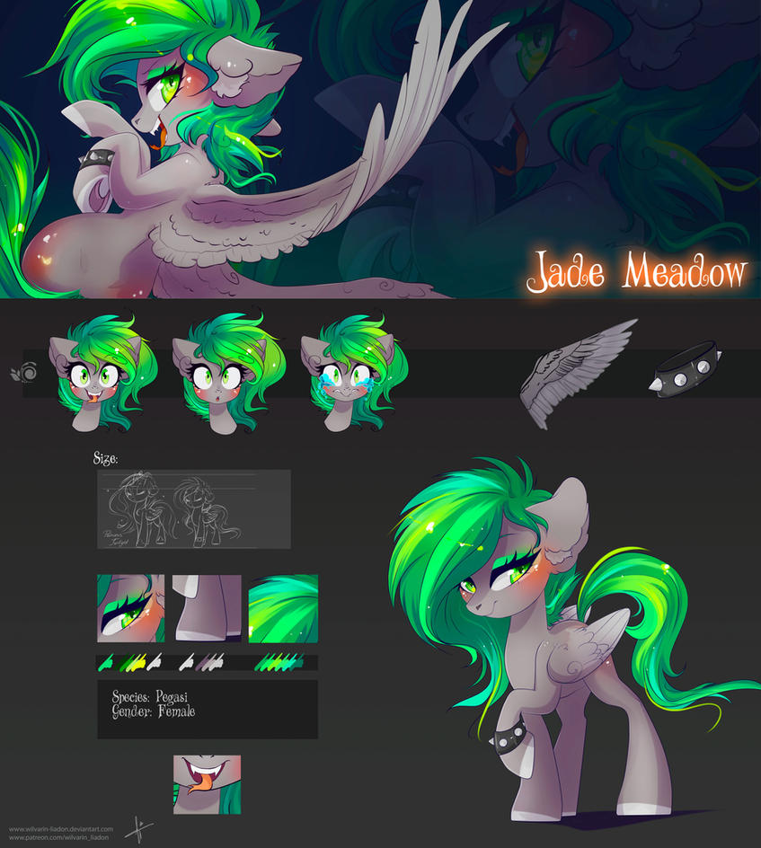 Epic Reference Sheet: Jade Meadow by Wilvarin-Liadon