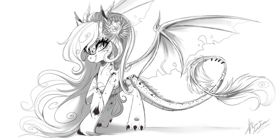 Dragonfruit sketch by Wilvarin-Liadon