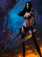 Dark Elf by BurovArt