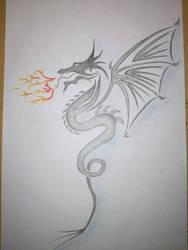 Dragon tattoo drawing