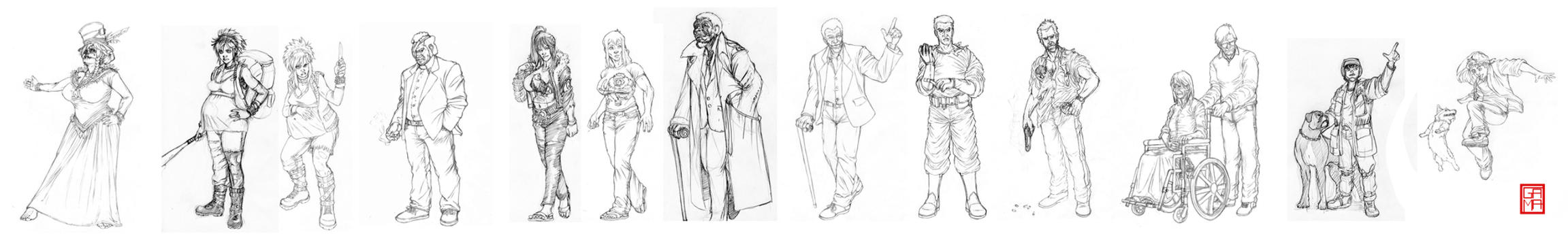 Apocalypse Tarot Characters by GaetanoMatruglio