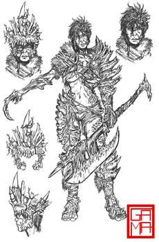 Amazzoni Character Designs: Queen Roane