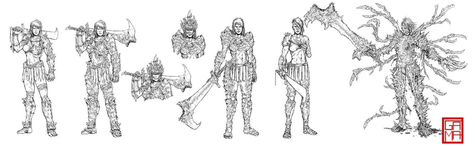 Amazzoni Character Designs: Vechernjaja (Veterana) by GaetanoMatruglio