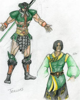 Triklops in Armor and as Edo
