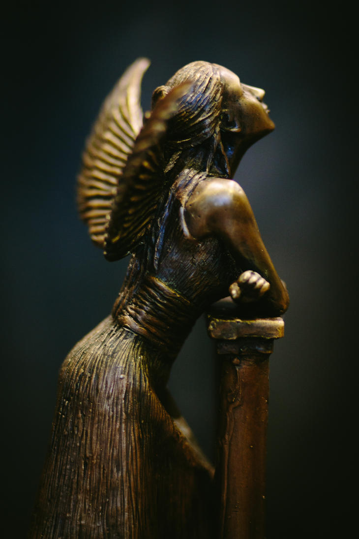 Juliet - Profile View - Unique Lost Wax Bronze by elysiumsangel