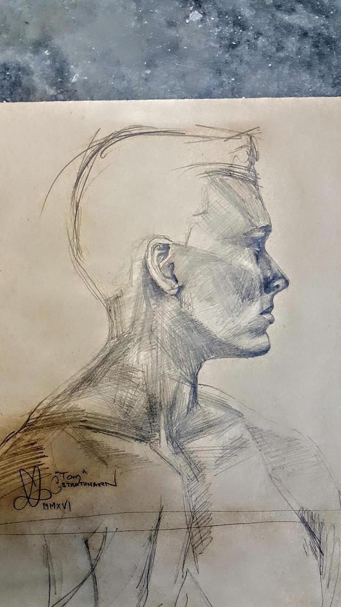 Tom - Life Drawing by elysiumsangel