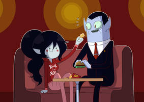 Marceline And hunson by carumbell