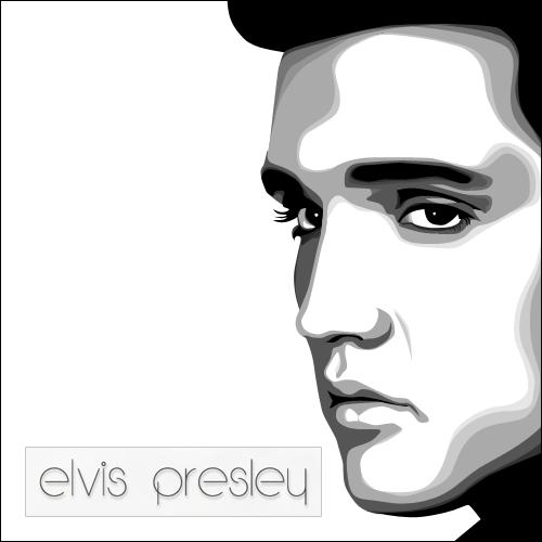 Elvis Face Silhouette Elvis presley by elvedsign