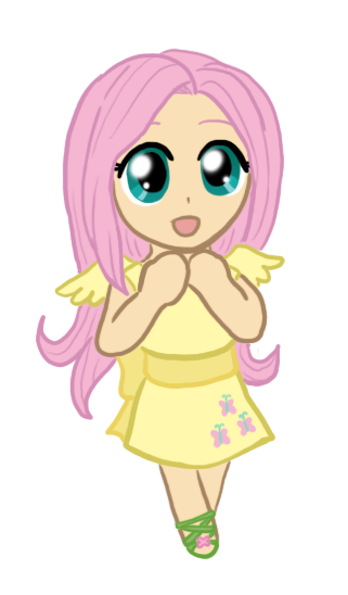 My Little Chibi Fluttershy by CardcaptorKatara on DeviantArt Fluttershy Human Chibi