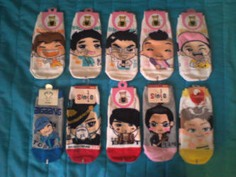 My k-pop sock collection so far by Hentaro