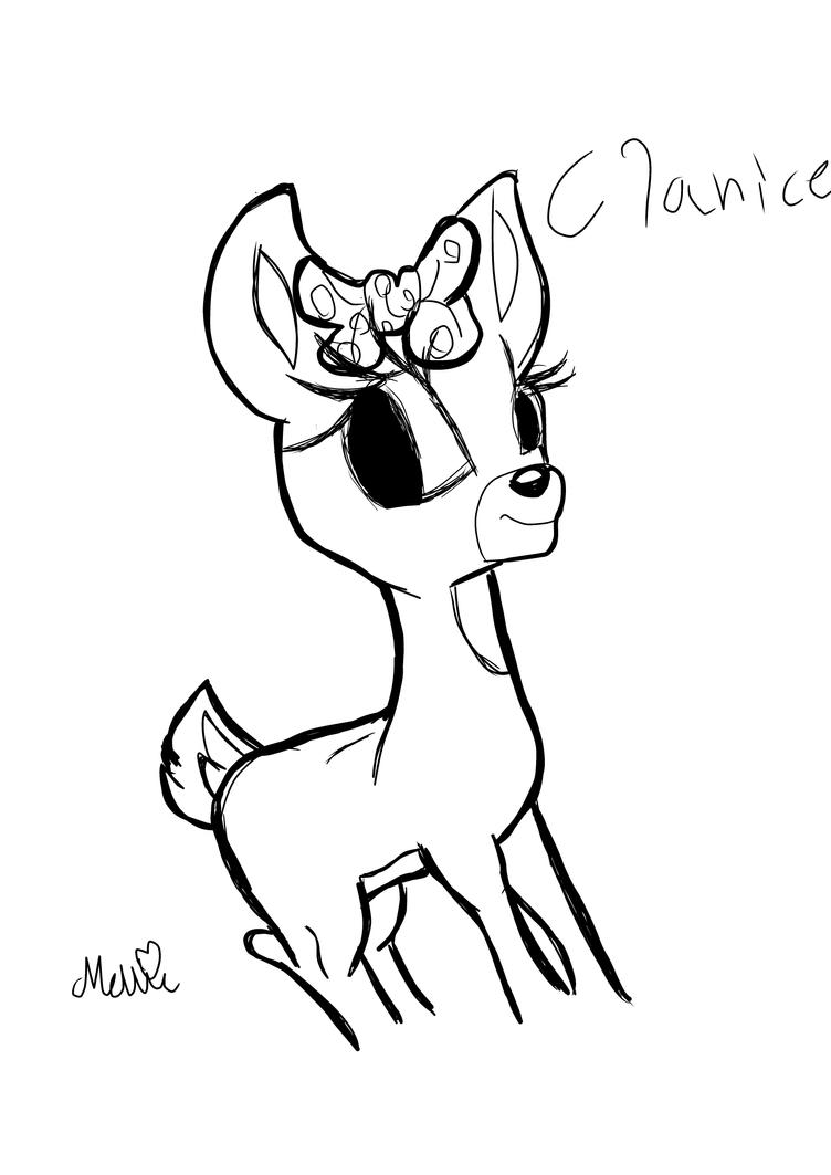 Clarice coloring pages coloring pages for Clarice the reindeer coloring page