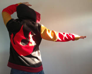 Fire Element Fleece Cosplay Hoodie by Weeaboo-Warehouse