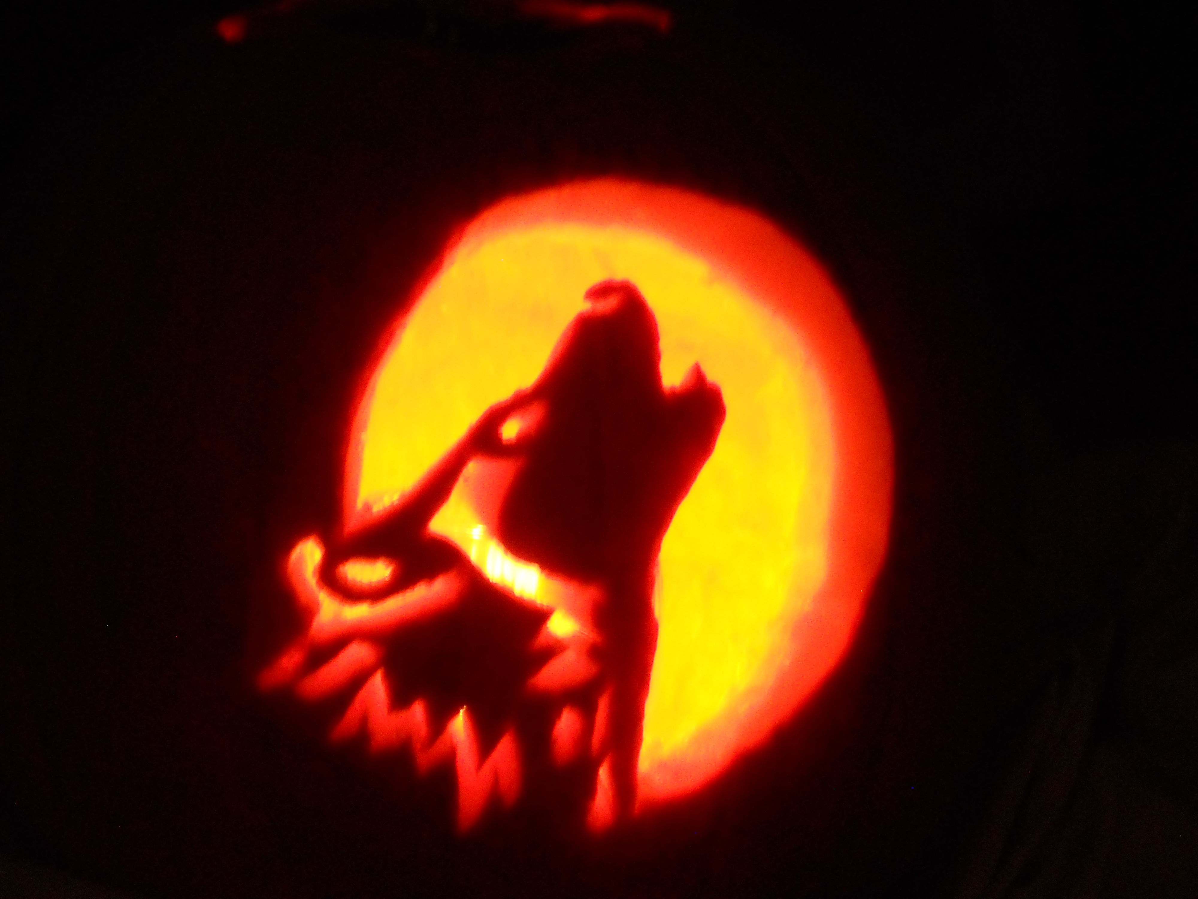 I carved my first pumpkin!! by Angelwolf92