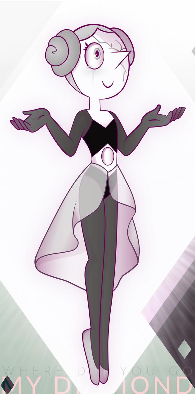 """-.-.-.-.-.-.-Steven Universe - White Pearl Illustration-.-.-.-.-.-.-.- """"W H E R E  D I D  Y O U  GO , M Y &..."""