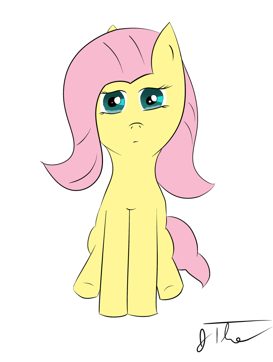 Fluttershy Crying by cuttincows