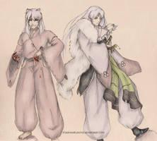 Inuyasha and Sesshoumaru