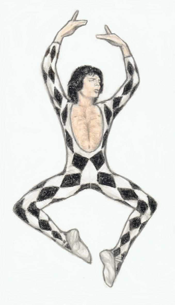Freddie Mercury as a ballet dancer by gagambo