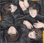 The Beatles on the floor