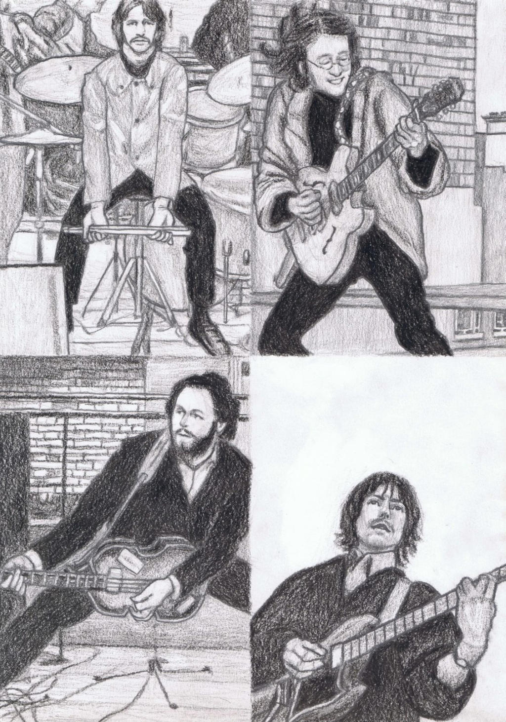 The Beatles Rooftop Concert By Gagambo On Deviantart