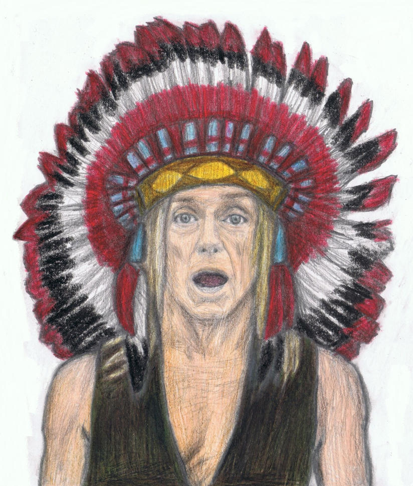 Iggy Pop as an Indian Chief by gagambo