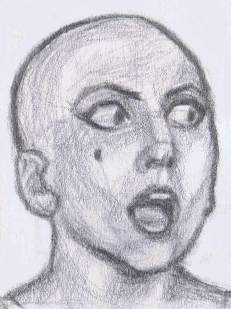 Bald Gaga astonished by gagambo