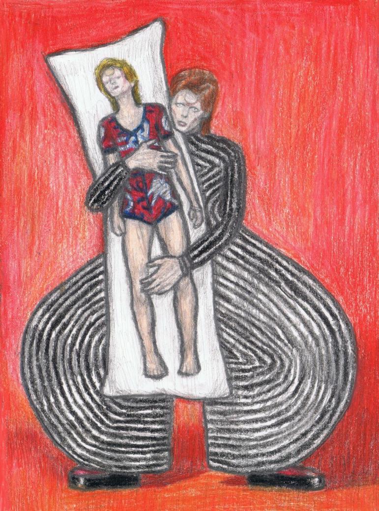 Ziggy Stardust dakimakura by gagambo