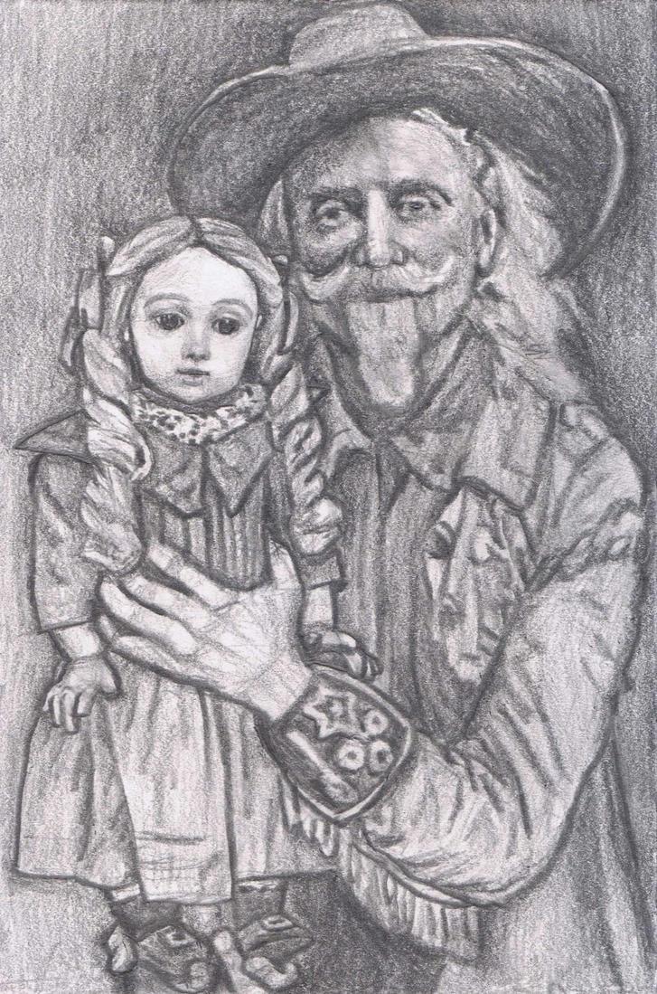 Buffalo Bill with a doll by gagambo