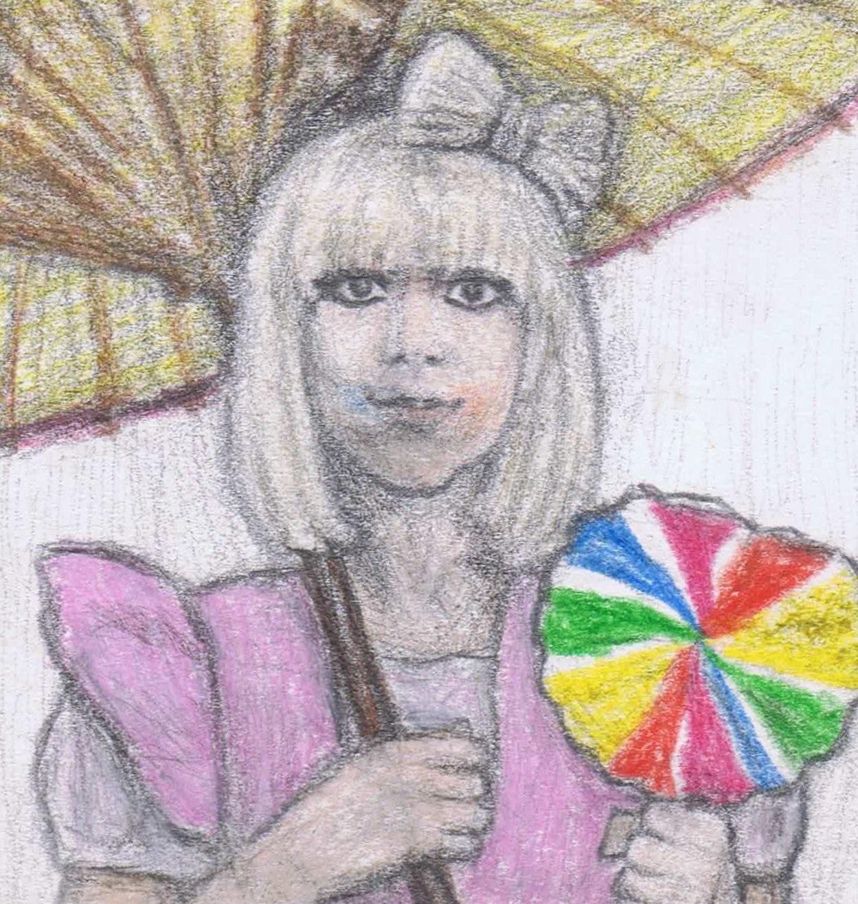 Lady Gaga with a lollipop by gagambo