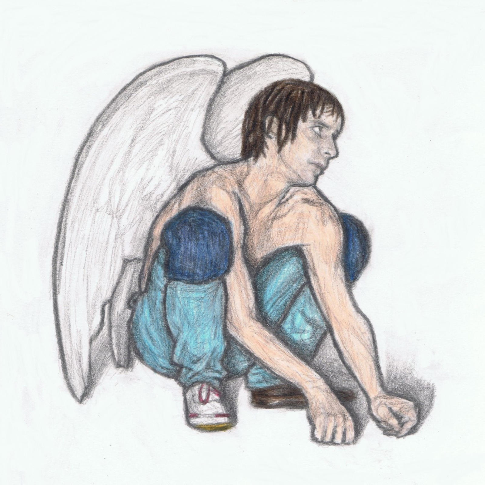 Iggy Pop as an angel by gagambo