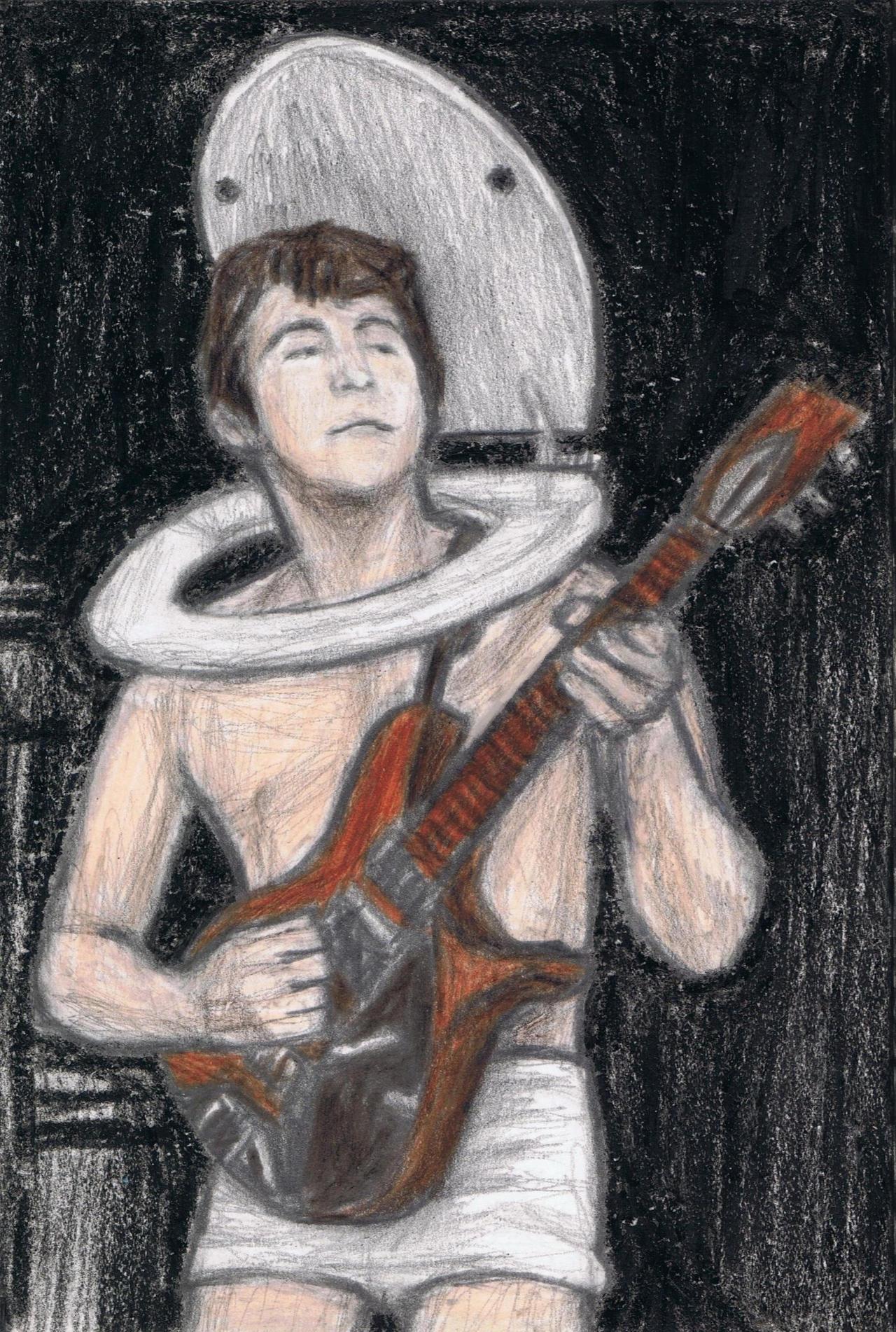 John Lennon wearing a toilet seat by gagambo