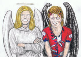 Angel Bowie and Devil Ziggy by gagambo