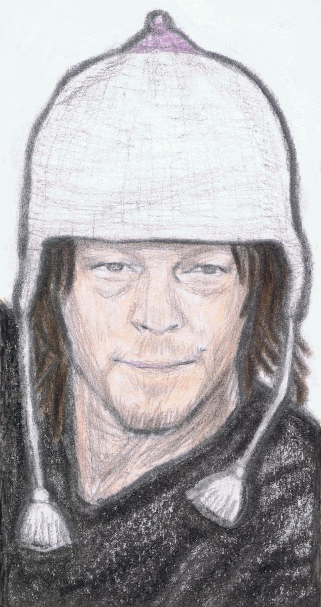 Norman Reedus wearing a boob cap by gagambo