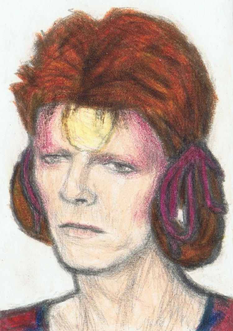 Ziggy Stardust with Mizura hairdo by gagambo