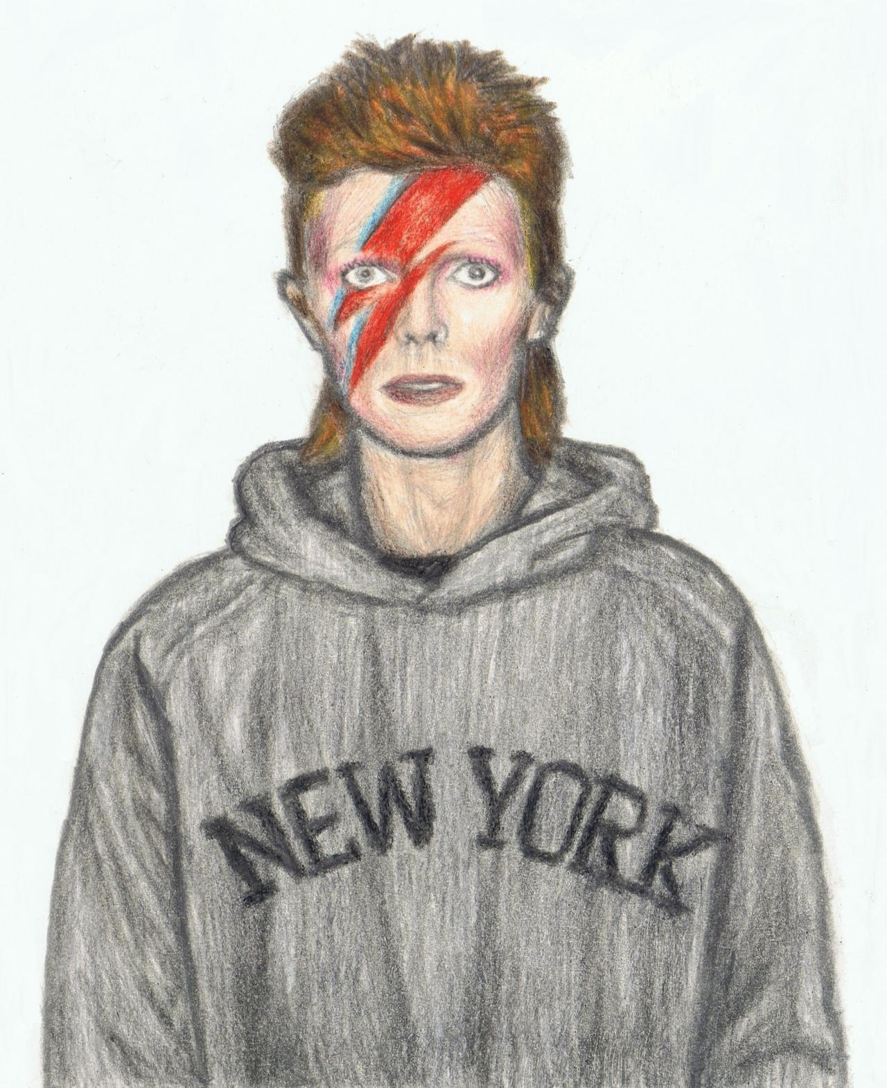 Aladdin Sane in hoodie by gagambo